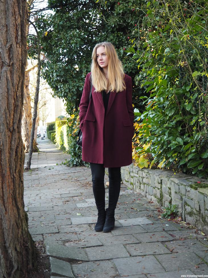 Cinnamon coat /// www.styleplayground.com