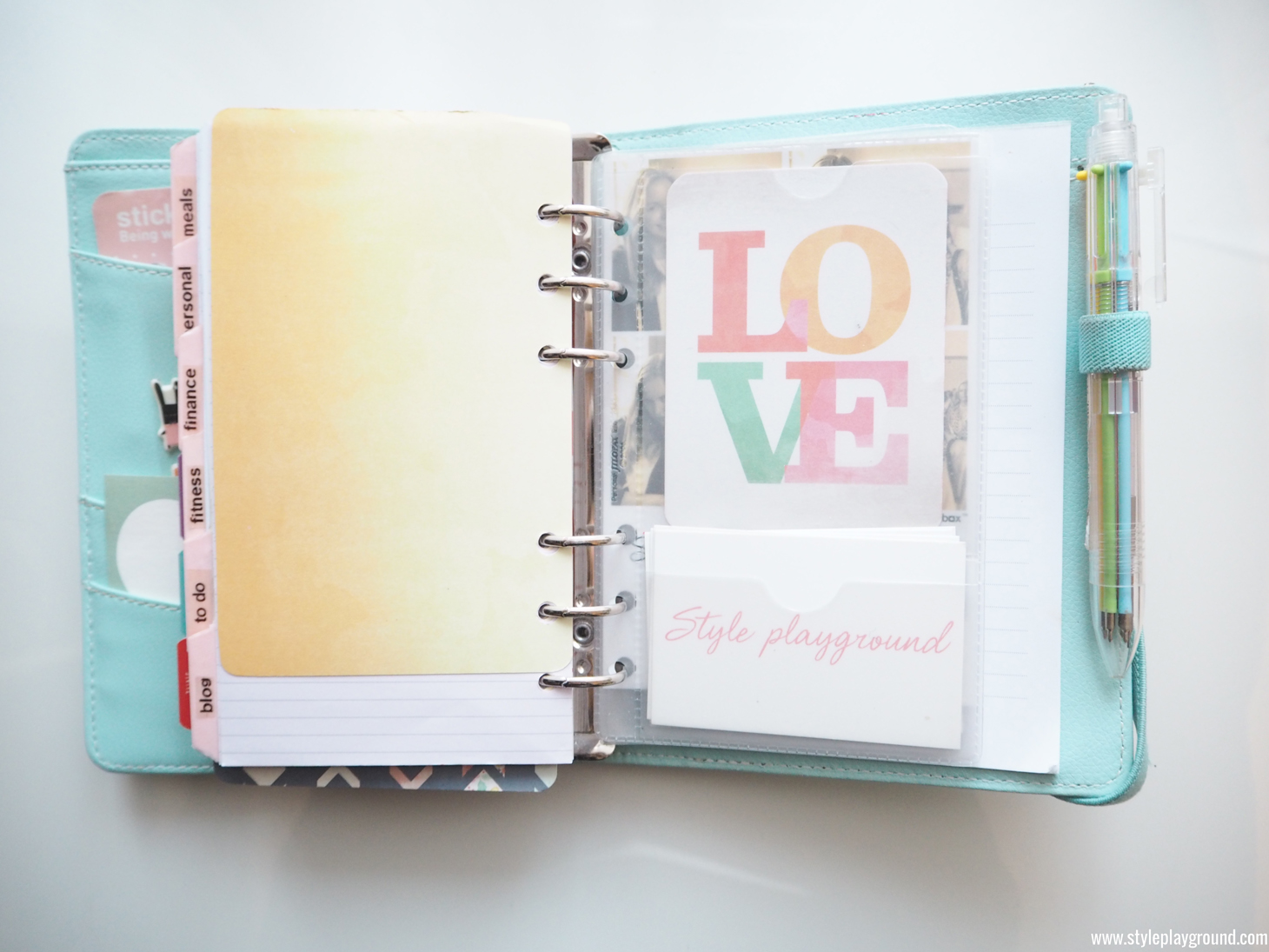 Axelle Blanpain of Style playground shares what's inside her Kikki K planner