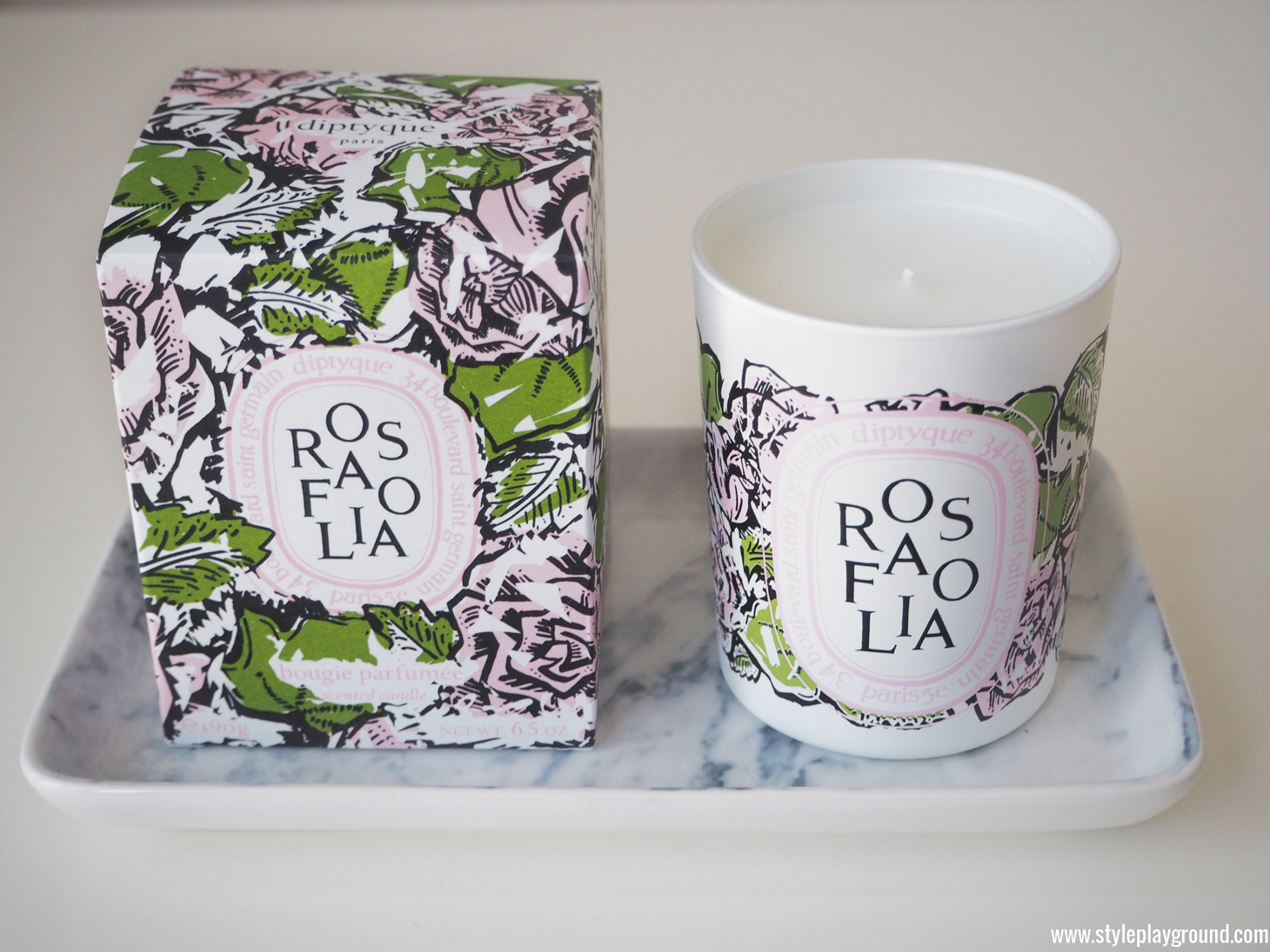 Diptyque Rosafolia candle
