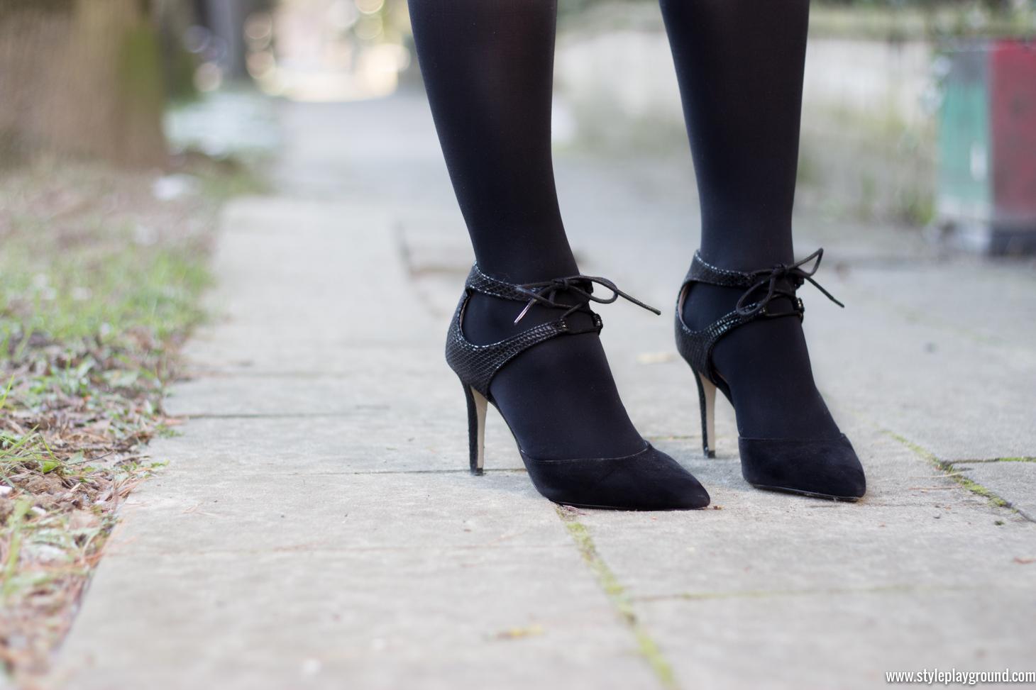 Vero Moda dress, Vila blazer, Dorothy Perkins shoes, DKNY Bryant Park bag via www.styleplayground.com