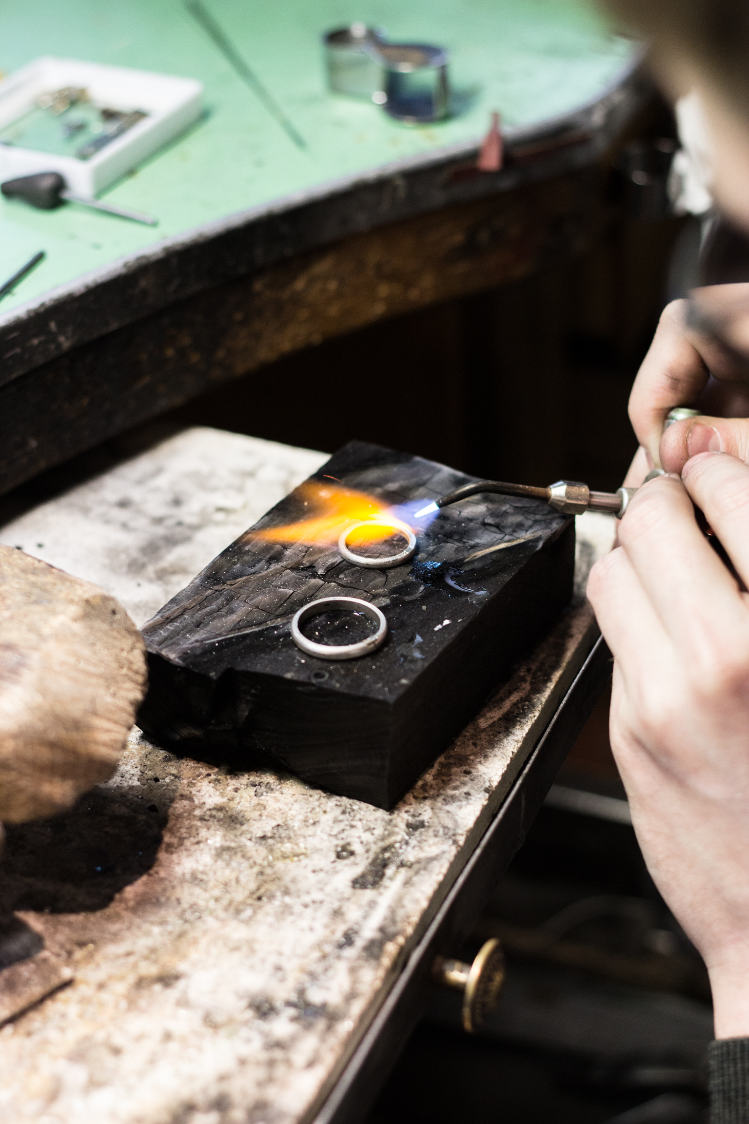 Making our own wedding bands