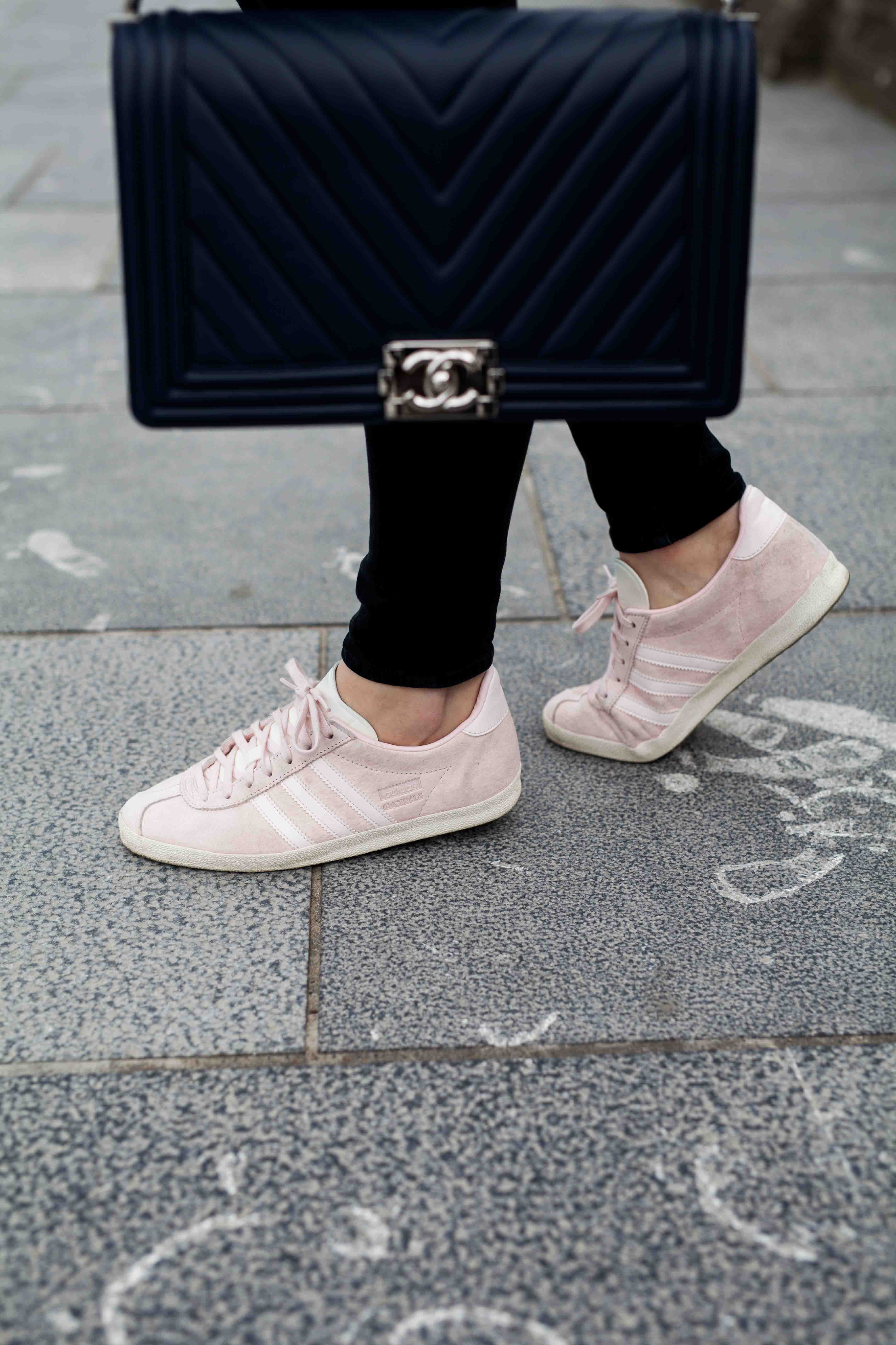 chanel boy bag & gazelle sneakers