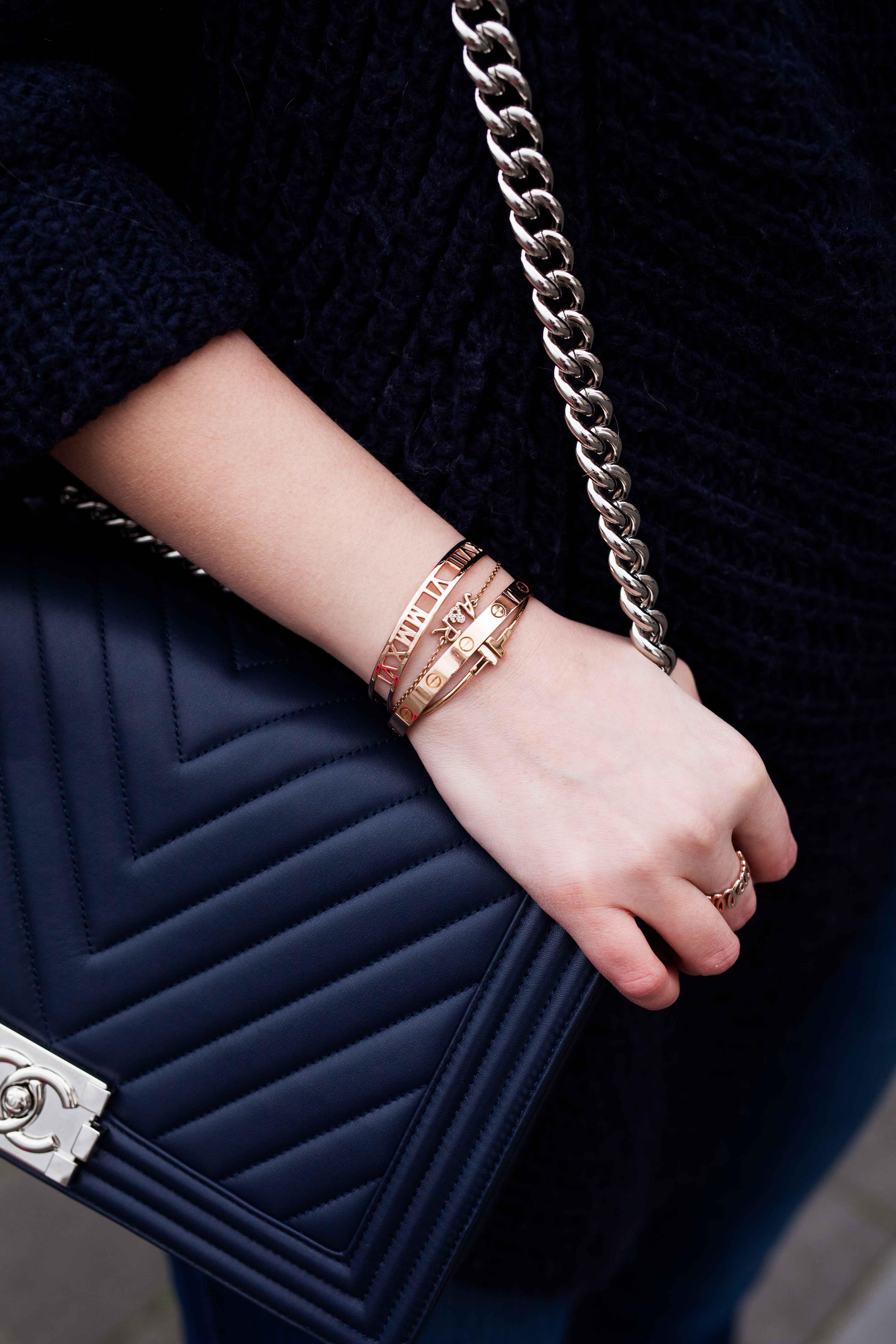 Chanel boy bag & Cartier bracelet