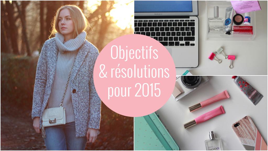 objectifs & résolutions pour 2015