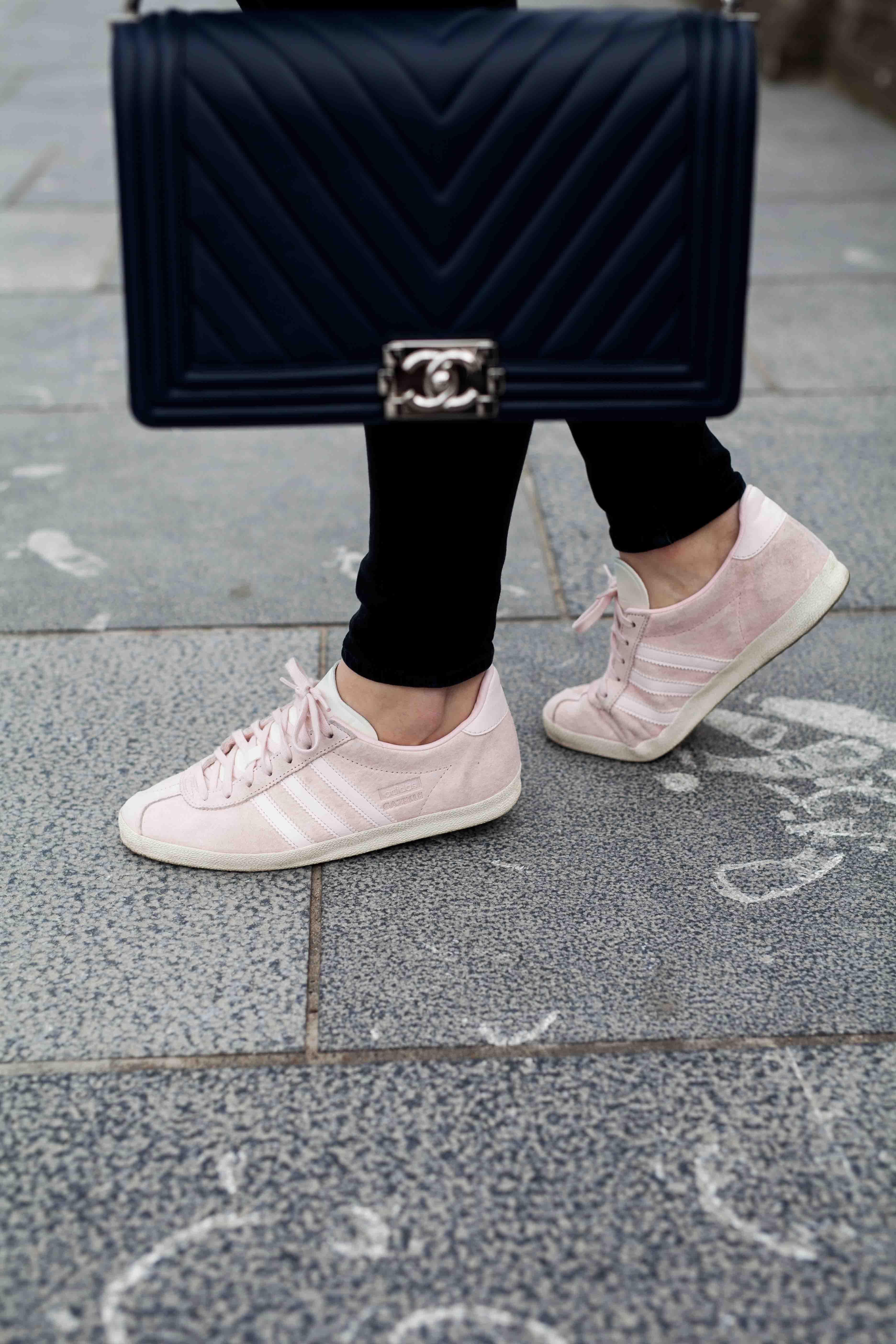 chanel boy bag & gazelle sneakers